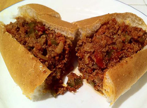 Portuguese piri piri hot peppers sloppy joe