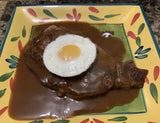 Portuguese Steak and egg with Brown Gravy
