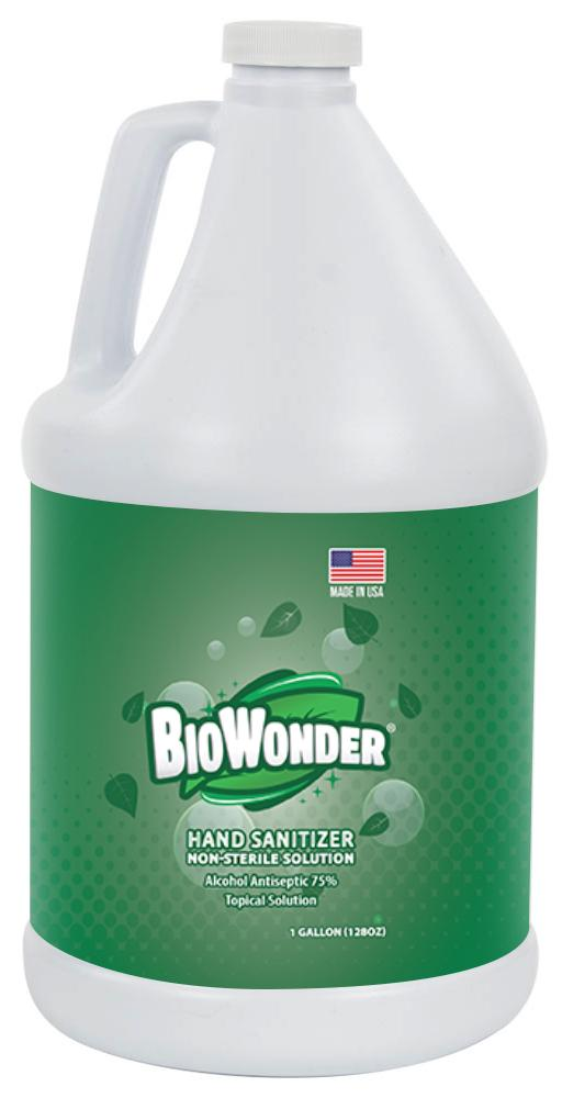 Hand Sanitizer 75%, Case of 4, 1 Gallon (128 oz) Bottles - BioWonder