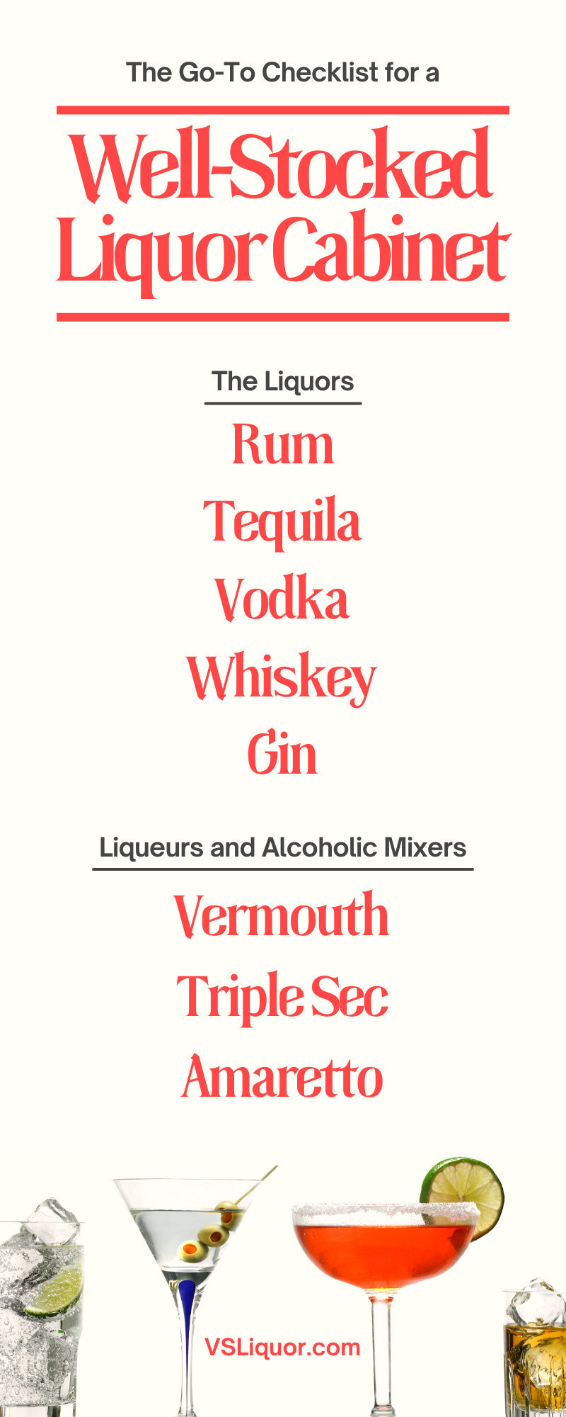 The Go-To Checklist for a Well-Stocked Liquor Cabinet
