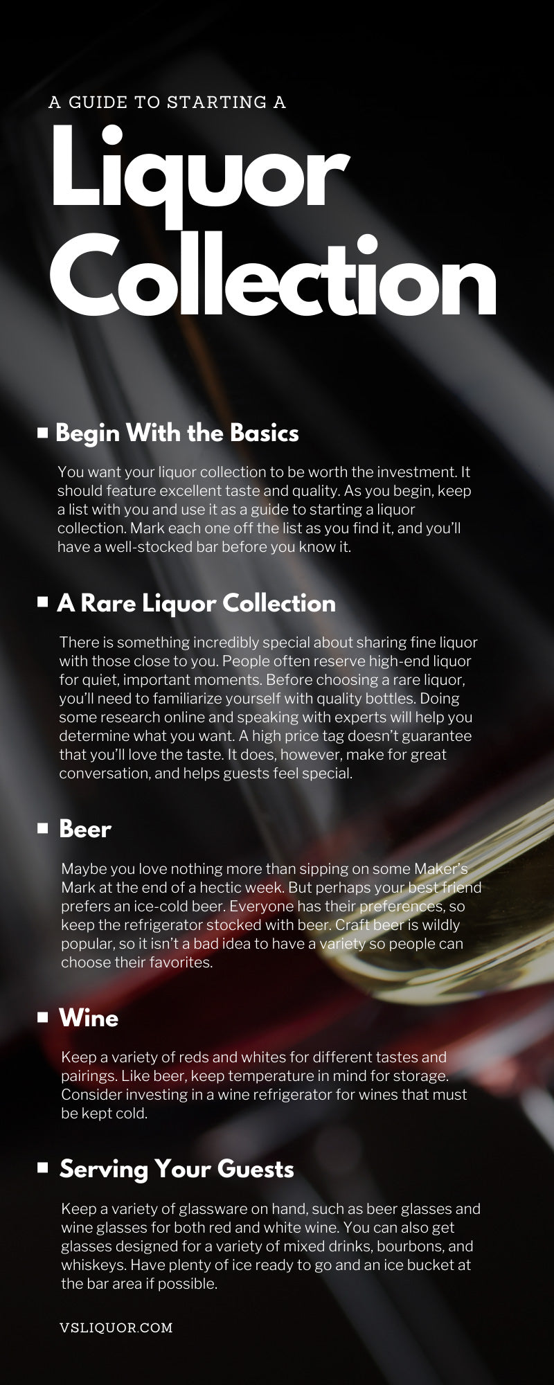 A Guide To Starting a Liquor Collection