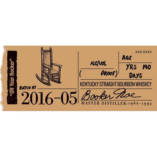 Booker's Bourbon Batch 2016-05 'Off Your Rocker'