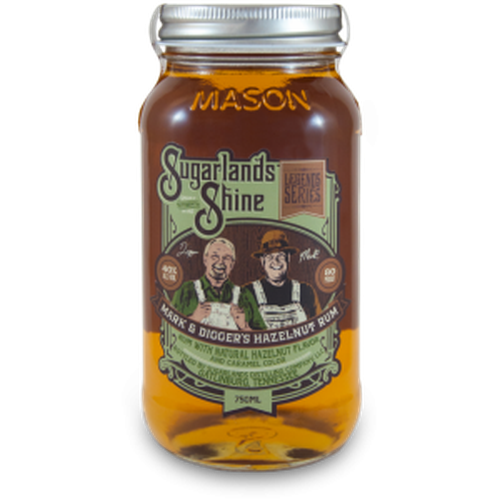 Sugarlands Shine Mark & Digger'S Hazelnut Rum Moonshine 750Ml