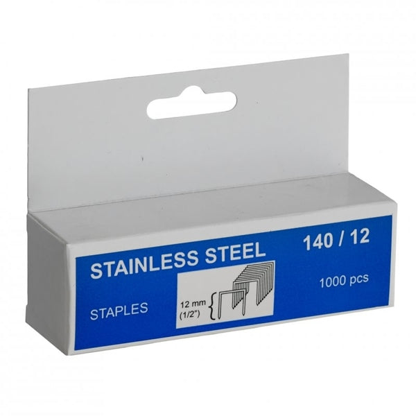 Rapid Staples 140/12 1000pcs Stainless Steel