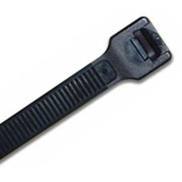 200 x 7.6mm Uv Nylon Cable Tie - Blk. - 100Pk