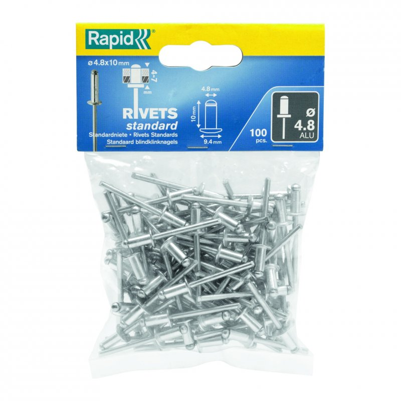Rapid Rivets 4.8x16mm Standard Alu 100pc