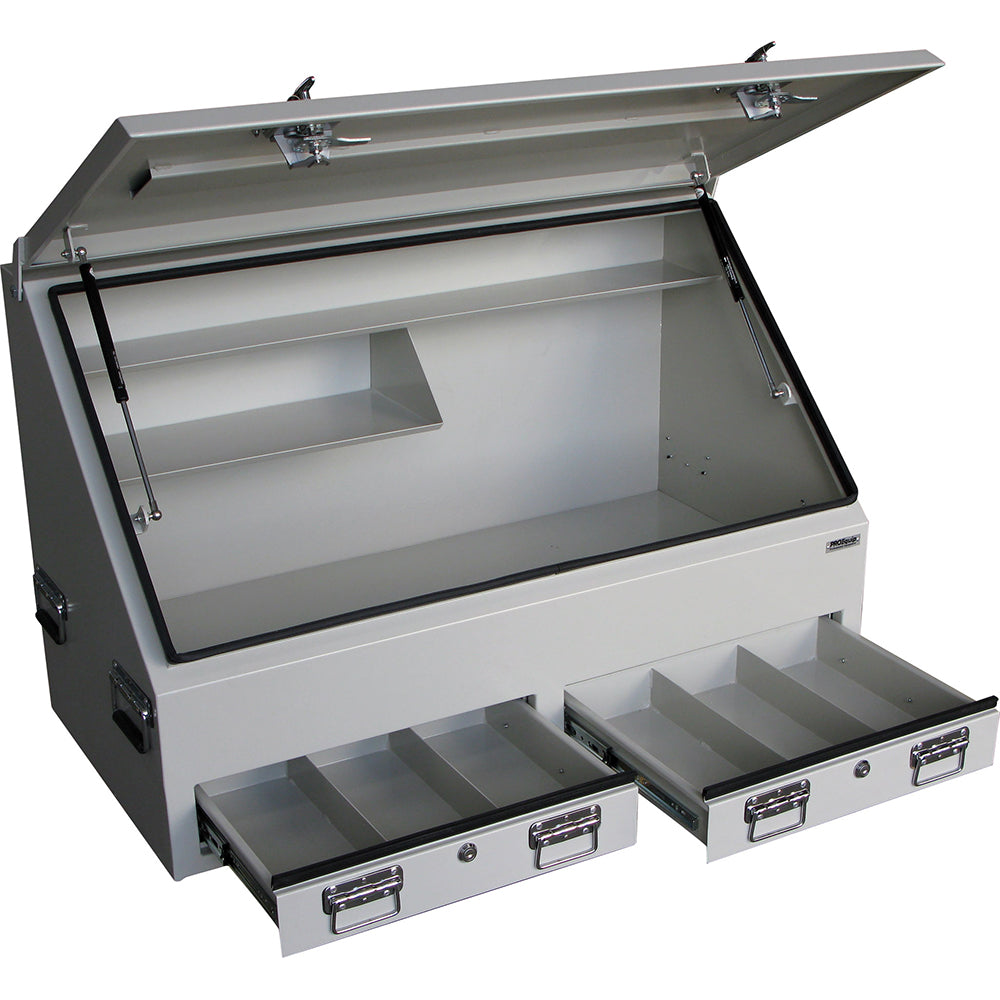 Proequip Steel HD Truck Box 2-Drawer 1210mm