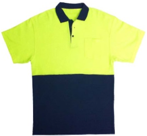 WORK TUFF HI VIS POLO T SHIRT