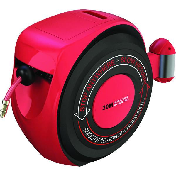 PROequip Auto Rewinding Air Hose Reel 30M-Slow Return Type