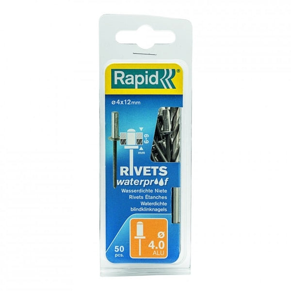 Rapid Rivets 4x12mm Waterproof 50pc Drill