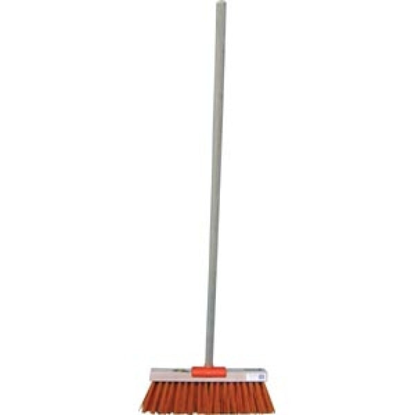 Raven Broom Yard Nylon Orange Hi Vis C/W Handle 355mm