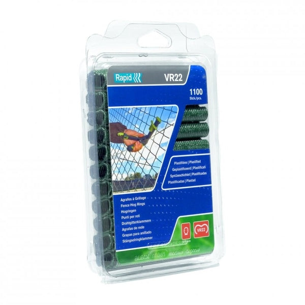 Rapid Fence Hog Ring Staples VR22 Green 1100pcs