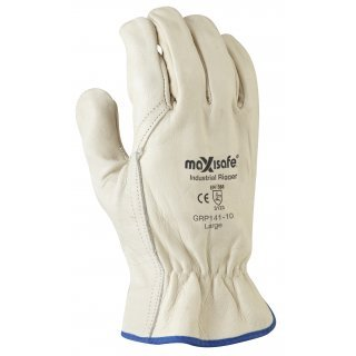 Maxisafe Industrial Full Grain Riggers Glove Size L