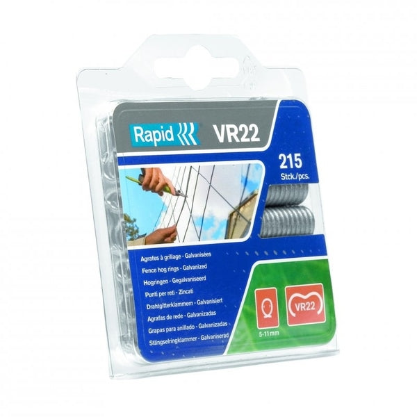 Rapid Fence Hog Ring Staples VR22 Galv 215pcs