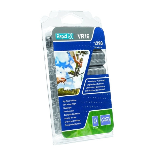 Rapid Fence Hog Ring Staples VR16 Galv 1390pcs