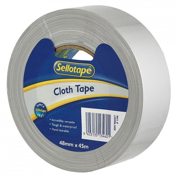 Sellotape Cloth Tape Silver 48mmx45m x 3
