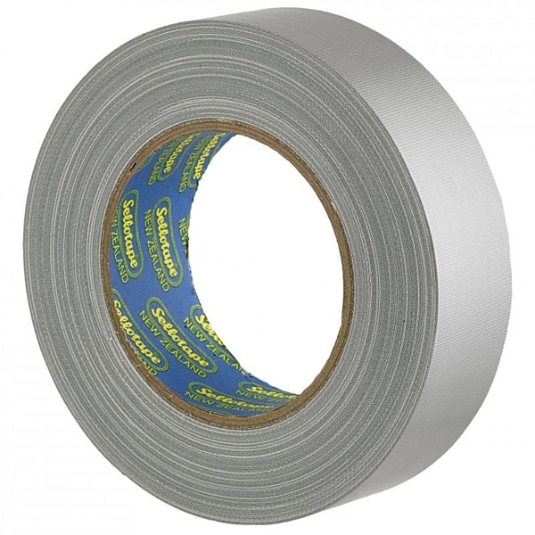 Sellotape Cloth Tape Silver 36mmx30m x 4