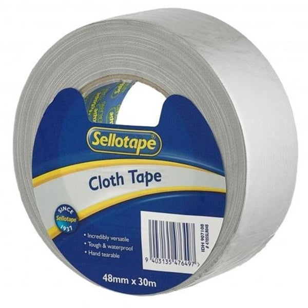 Sellotape Cloth Tape Silver 48mmx30m x 3