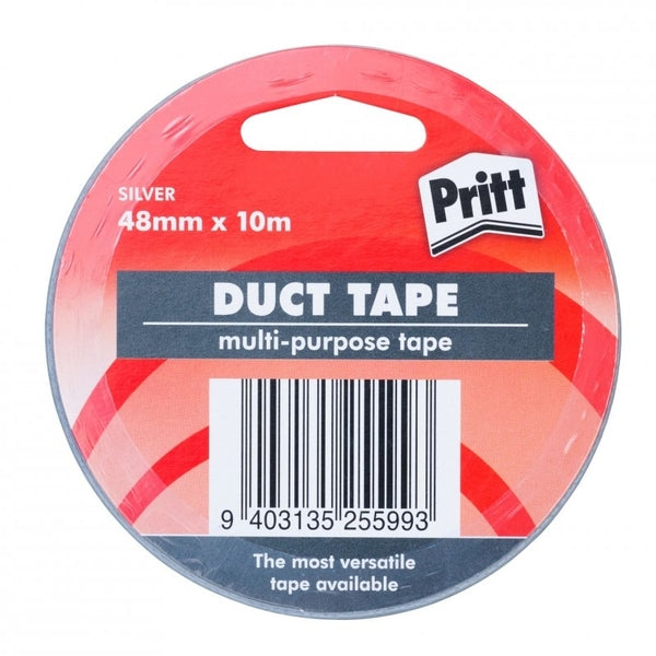 Sellotape Pritt Cloth Duct Tape Silver 48mmx10m x 3