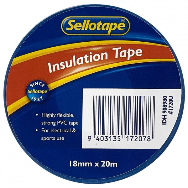 Sellotape Insulation Blue 18mmx20m x 10