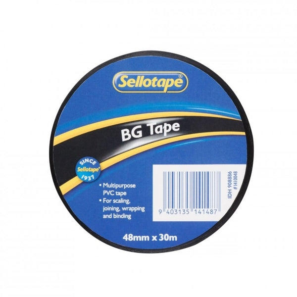 Sellotape BG Tape Black 48mmx30m x 6
