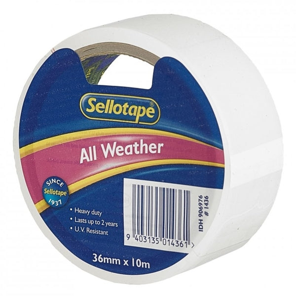 Sellotape All Weather Tape 36mmx10m x 4