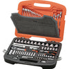 Tactix Socket Set 113Pc 1/4in & 1/2in Dr. Metric