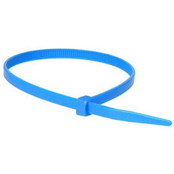 200 x 4.8mm Nylon Cable Tie - Blue - 100Pk