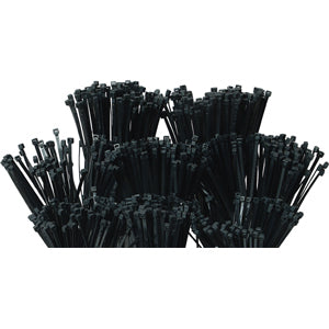 1000Pc Cable Tie Assorted Pack - Uv Black