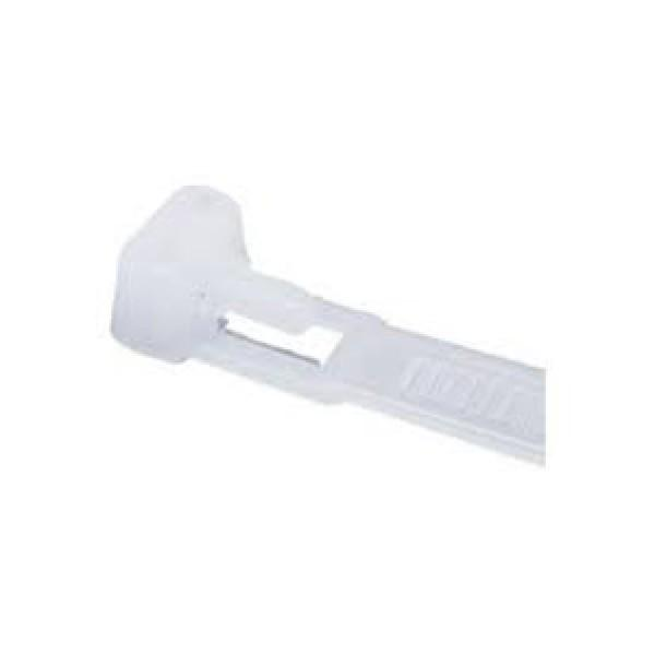200 x 4.8mm NYLON RELEASABLE CABLE TIE - 100PK