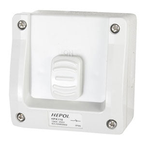 15A Weatherproof 1 Gang Surface Switch Ip66