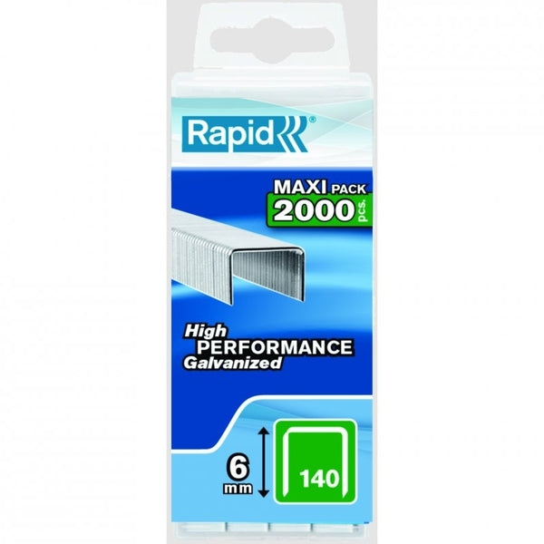 Rapid Staples 140/6 2000pcs Plastic Box