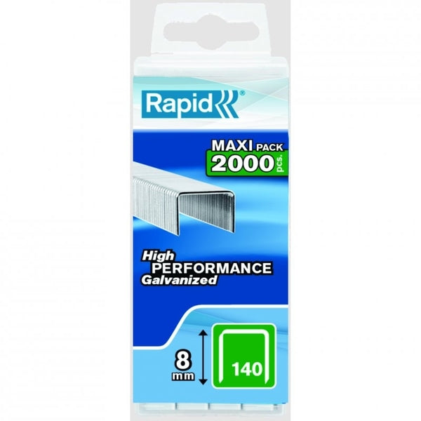 Rapid Staples 140/8 2000pcs Plastic Box