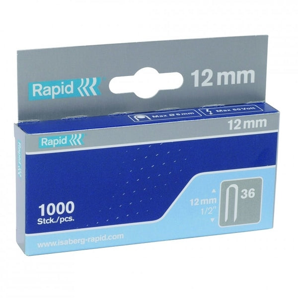 Rapid Staples 36/12 Mini 1000pcs