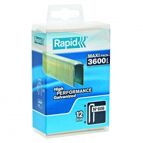 Rapid Staples 606/12 3600pcs Plastic Box