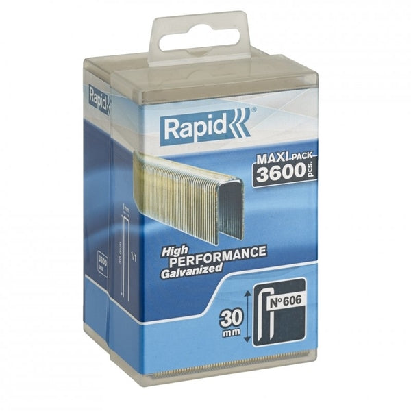 Rapid Staples 606/30 3600pcs Plastic Box