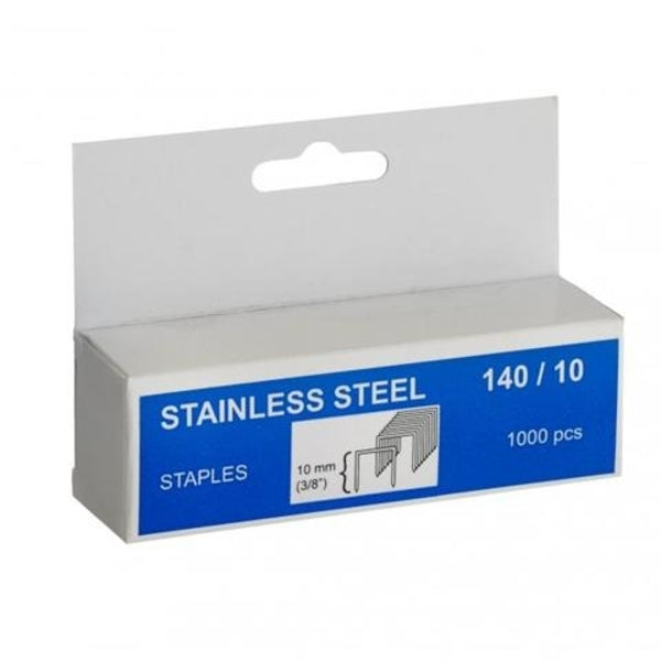 Rapid Staples 140/10 1000pcs Stainless Steel