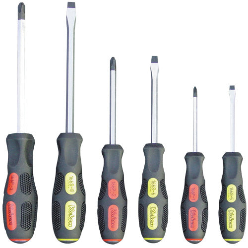 Koken 166PS Screwdriver Set Heavy Duty 6pc #1-3 Ph & 5-8mm Flat