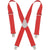 Kuny's Heavy Duty Elastic Suspenders Red