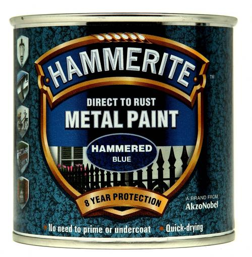 Hammerite Hammered 250ml Blue
