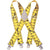 Kuny's Heavy Duty Elastic Suspenders Yellow Tape