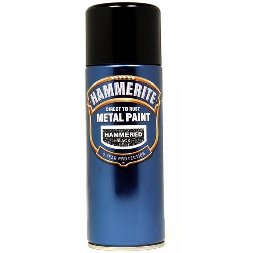 Hammerite Hammered 400ml Aerosol Black