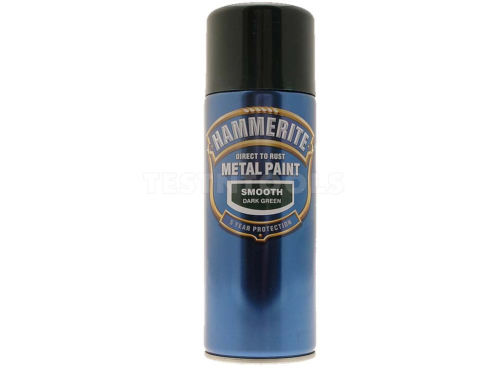 Hammerite Direct to Rust Metal Paint Smooth Dark Green 400ml