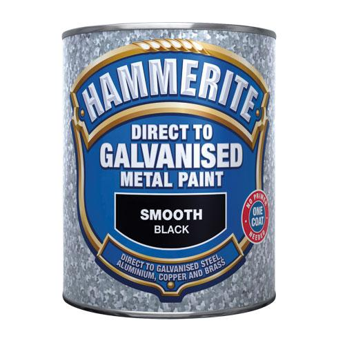 Hammerite Direct to Galv 750ml Black