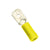 Champion YELLOW MALE PUSH-ON SPADE TERMINAL100PK