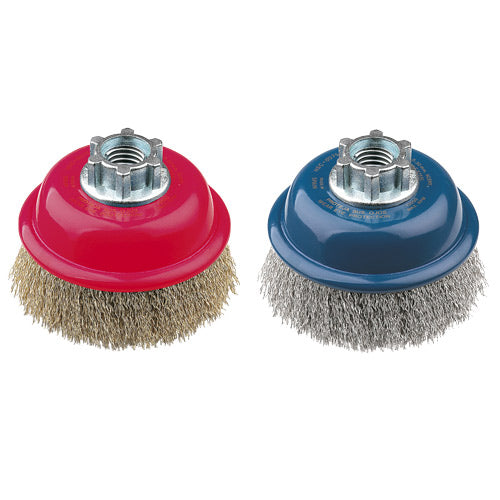 Jaz HSC0075ZR77 Cup Brush High Speed 75mm x 22mm x 0.3mm ? M10 Multi Fit ? Stainless Steel