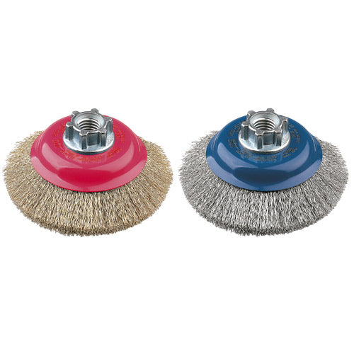 Jaz HSD0100ZM14 Bevelled Brush High Speed 100mm x 24mm x 0.3mm ? M14 x 2 ? Stainless Steel