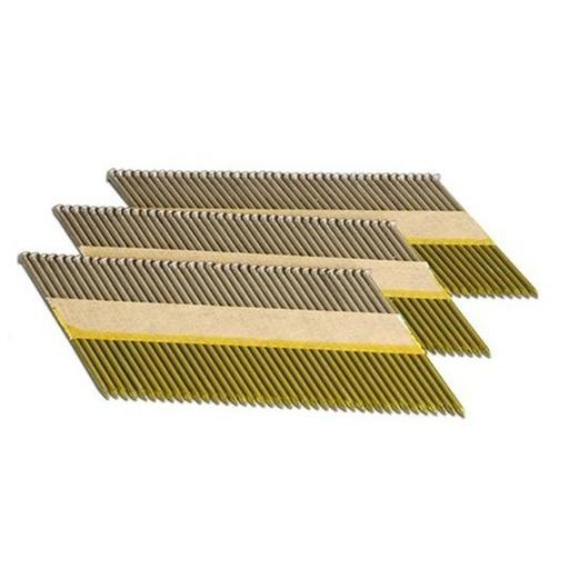 FIXTITE FRAMING GUN NAILS BRIGHT 90MM X 3.15 (3000 BOX) X4 CELLS