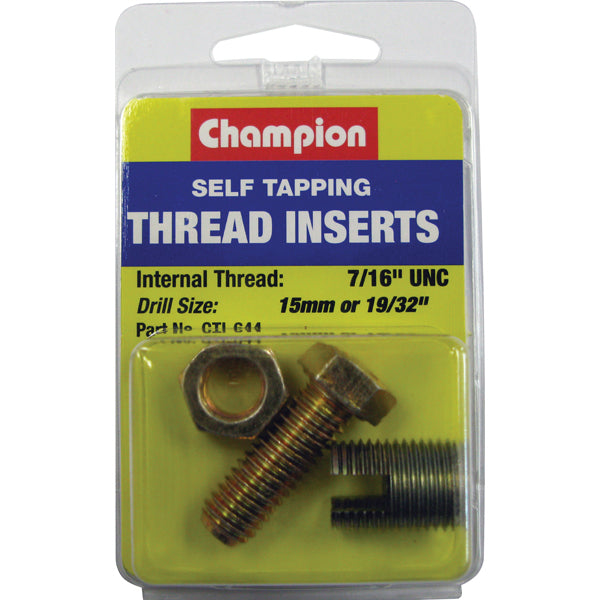 Champion S/TAPP. THREAD INSERT7/16IN UNC (1PK)