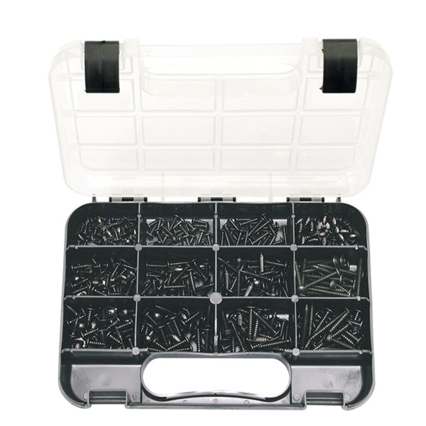 GJ GRAB KIT 370PC SELF-TAPP MUSHROOM HD SCRWS